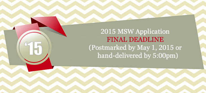 MSW Applications now available